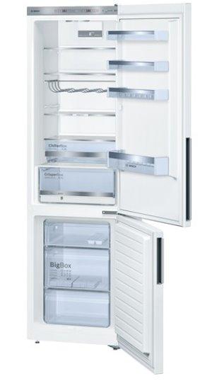 BOSCH_Chladnicka 201 cm, chlad. 249l, mraz. 88l, 156 kWh/365 dní, LED-displej (2 chladicí okruhy), A+++, biela