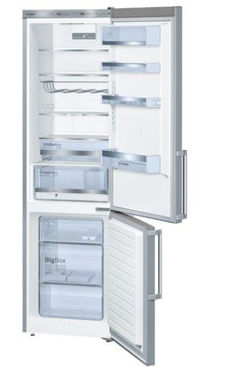 BOSCH_Chladnicka A+++, 156 kWh/rok, 339 l (250l/89l), LED-displej, 2 chladiace okruhy, LowFrost, InoxLook