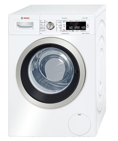 BOSCH_Pracka max 1400 ot. / min., obsah 9 kg, A+++ - 30%, LED displej, VarioDrum bubon, EcoSilence Drive motor, Seria 8