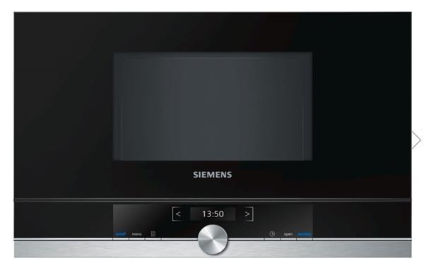 """SIEMENS_Mikrovlnná rúra,záves dvierok vpravo,cookControl 7,21 l,mikrovlnný výkon max.900W,2,8"""" fareb.textový TFT displej"""