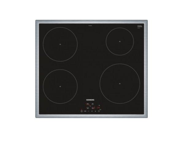 SIEMENS_60cm, nerez rám, senzorové ovladanie touchControl, 4 indukčné zóny s rozpoznaniem hrnca, 17 st výkonu, timer