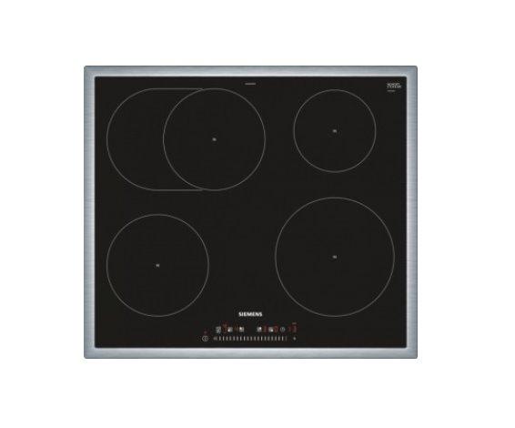 SIEMENS_60cm, nerez rám, senzorové ovladanie touchSlider, 4 indukčná zóny s rozpoznaniem hrnca
