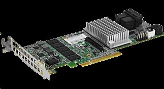 Supermicro AOC-S3108L-H8iR 8xInternal, LSI SAS 12G/b RAID 0,1,5,6,10,50,60 2GB DDR3 on-board cache Low Profile
