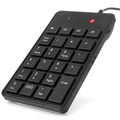 C-TECH KBN- 01. Numerická, 23 kláves, USB slim čierna