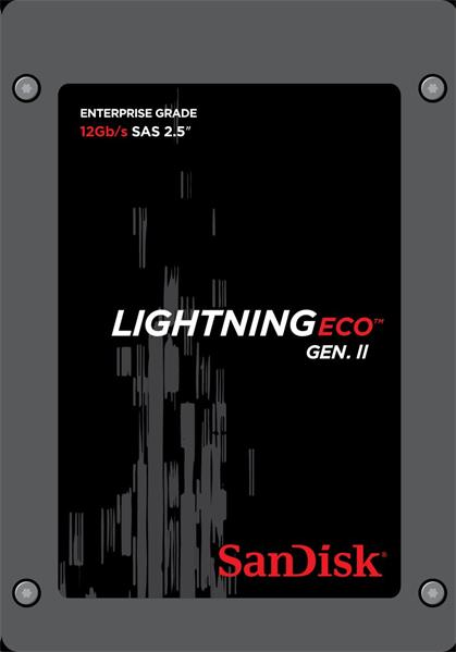 SanDisk Lightning II Eco™ 800GB 12Gb/s SAS 2,5' SSD R/W 980/600 MB/s,