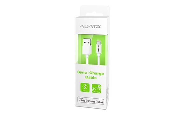 A-DATA Apple Lightning kábel, plástový biely