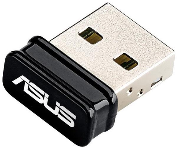 ASUS - USB-N10 Nano, Wireless USB 2.0 card 802.11n, 150 Mbps, nano dongle
