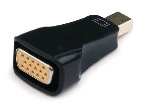 C-Tech redukcia adaptér mini DispalyPort (DP) - VGA M/F čierna