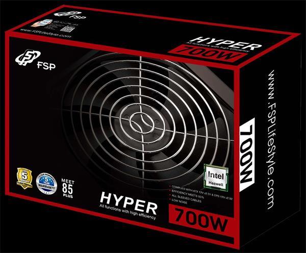 Fortron FSP HYPER S 700, 85+, Aktiv. PFC, 12cm fan, retail