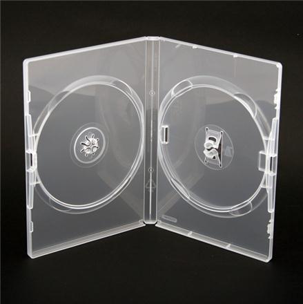 Box na 2 DVD, 14mm, priehľadný DA2CL.