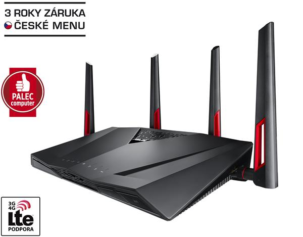 ASUS RT-AC88U, Gigabit Dualband Wireless LAN N Router 802.11ac