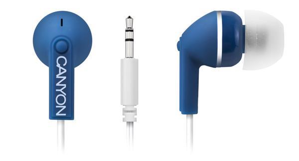 Canyon CNS-CEP01BL, štýlové slúchadlá do uší, modré