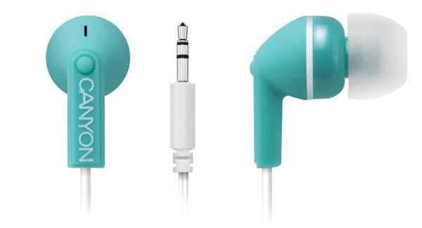 Canyon CNS-CEP01G, štýlové slúchadlá do uší, zelené