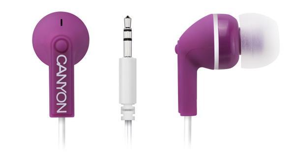 Canyon CNS-CEP01P, štýlové slúchadlá do uší, fialové