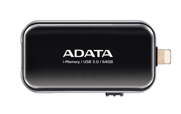 64 GB . USB klúč . ADATA i-Memory Flash Drive UE710, Čierny USB 3.0