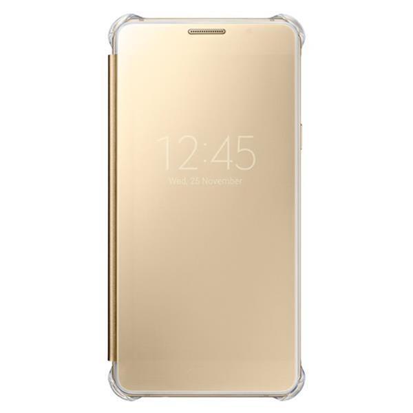 Samsung flip Clear View pre Galaxy A5 2016, Gold