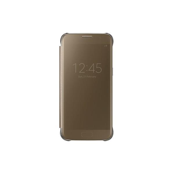 Samsung flipové púzdro Clear View pre Samsung Galaxy S7 (SM-G930), zlatý