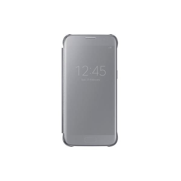 Samsung flipové púzdro Clear View pre Samsung Galaxy S7 (SM-G930), strieborná