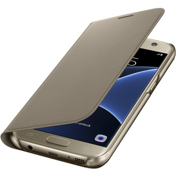 Samsung Flip Wallet pre S7 (G930), zlatá