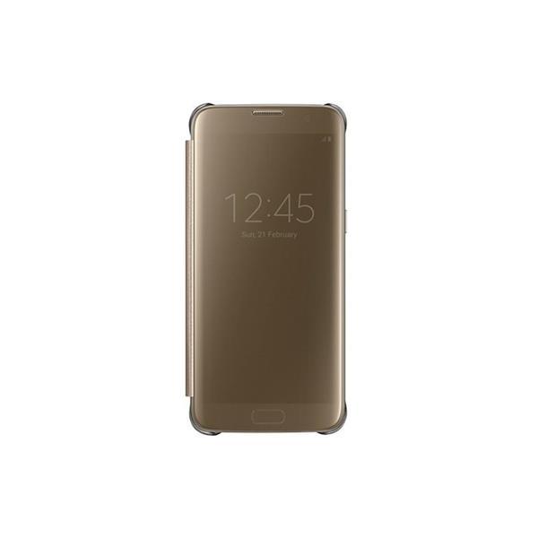 Samsung flipové púzdro Clear View pre Samsung Galaxy S7 edge (G935), zlatá