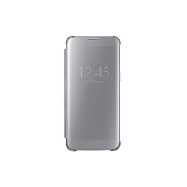 Samsung flipové púzdro Clear View pre Samsung Galaxy S7 edge (G935), strieborná
