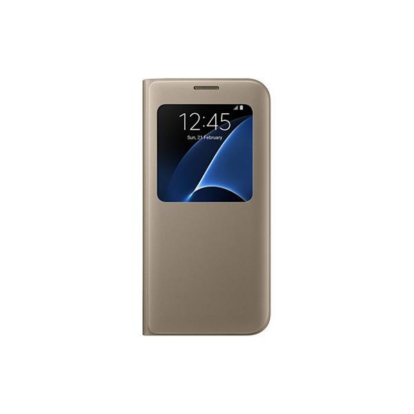 Samsung S View obal pre Galaxy S7 edge (G935), zlatá