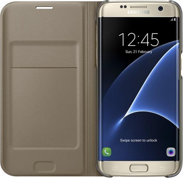 Samsung Flip Wallet pre S7 edge (G935), zlatá