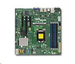 Supermicro MBD-X11SSH-F-O, Single SKT, Intel C236 PCH chipset, 8 x SATA3, 2 x GbE LAN, dedicated IPMI LAN, 3 x PCI-E3.0,