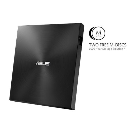 ASUS External Slim SDRW-08U7M-U/BLACK/G/AS, Retail, čierna
