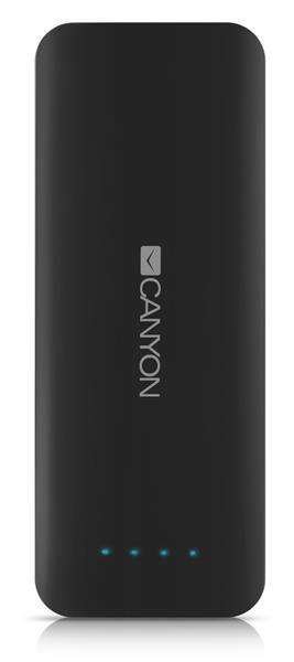 Canyon CNE-CPB156DG Powerbank 15.600 mAh, dual USB 5V/2A, pre smartfóny a tablety, tmavo šedá
