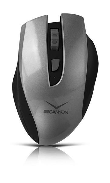 Canyon CNS-CMSW7G, Wireless optická myš USB, nabíjateľná, 800/1200/1600 dpi, šedo-čierna