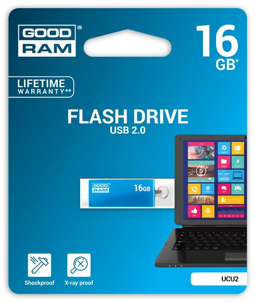 16 GB . USB kľúč . GOODDRIVE CUBE Modrá