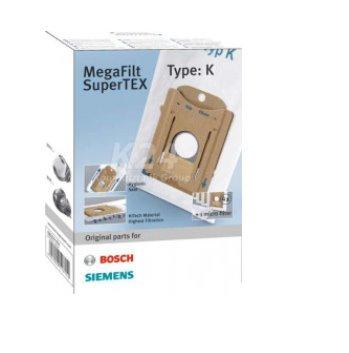 BOSCH_Filtračné vrecko MegaFilt Super TEX,Obsah:4 filtračné vrecká s uzáverom,1 mikro-hygienický filter