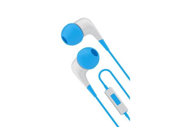 Cygnett 2xS slúchadlá do uší s mikrofónom, pre smartfóny, bielo /modré