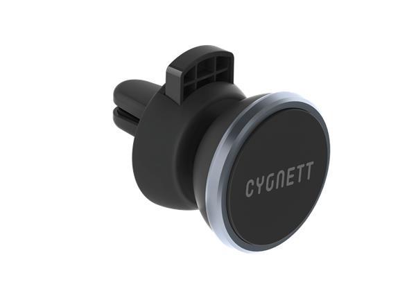 Cygnett MagMount, auto-držiak pre smartfóny s magnetickým uchytením prístroja a nasadením do mriežky ventilátora.