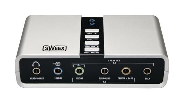 König Sweex 7.1 externá USB zvuková karta