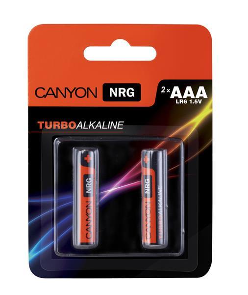 Canyon ALKAAA2, alkalické mikrotužkové batérie AAA, 2ks/balenie - blister