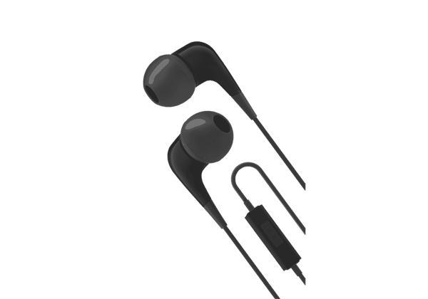 Cygnett 2xS slúchadlá do uší s mikrofónom, pre smartfóny, čierno-šedé