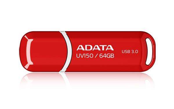 64 GB . USB kľúč . ADATA DashDrive™ Classic UV150 USB 3.0, červena
