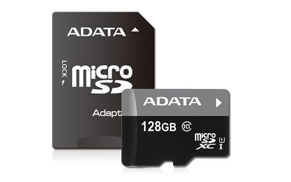 128 GB . microSDHC/SDXC UHS-I karta ADATA class 10 Ultra High Speed + adaptér