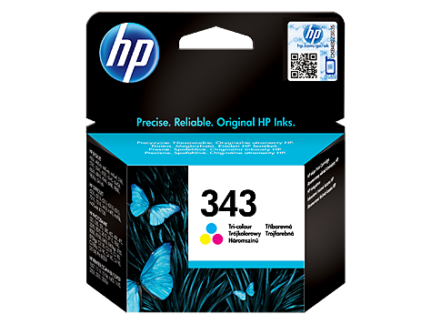 HP No. 343 Tri-colour Inkjet Print Cartridge (7ml)