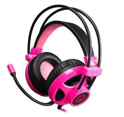 C-TECH hráčske slúchadla s mikrofónom Helioss (GHS-07P) Čierno-rúžové