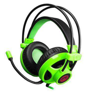 C-TECH hráčske slúchadla s mikrofónom Helioss (GHS-07G) Čierno-zelené
