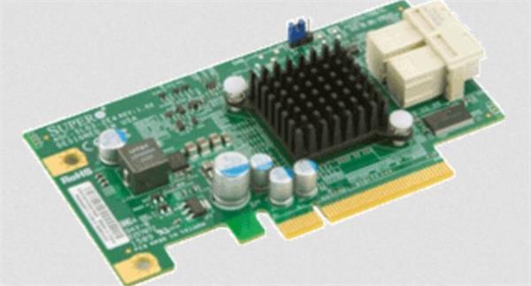 Supermicro AOC-SLG3-2E4R-O, NVMe AOC, Standard LP, 2 internal NVMe ports, x4 per port, Gen-3