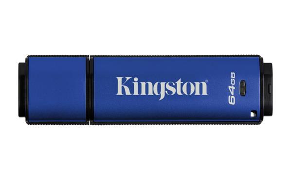 64 GB . USB 3.0 klúč . Kingston DTVP30, 256 AES FIPS 197 ( r250 MB/s, w85 MB/s )