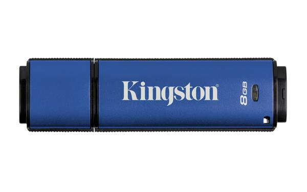 8 GB . USB 3.0 klúč . Kingston DTVP30, 256 AES FIPS 197 ( r165 MB/s, w22 MB/s )