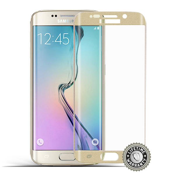 ScreenShield G928 Galaxy S6 Edge Plus Tempered Glass protection (Gold) - Film for display protection