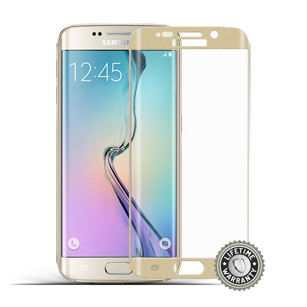 ScreenShield G925 Galaxy S6 Tempered Glass protection (Gold) - Film for display protection