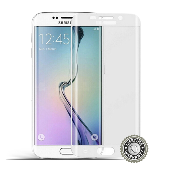 ScreenShield G925 Galaxy S6 Tempered Glass protection (silver) - Film for display protection