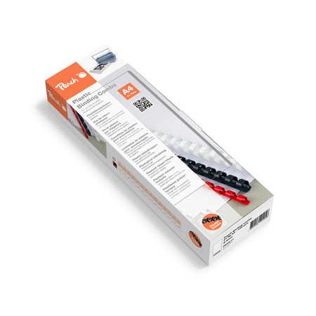 Peach Binding Combs 21 Rg A4 8mm, white